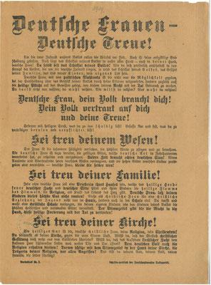 Flugzettel der DNVP zur Wahl der Nationalversammlung am 19.1.1919. StA Göttingen