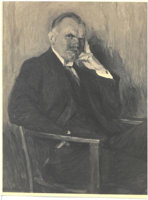Dr. Walter Luetgebrune, undat., Mitglied im Empfangsauschuss für heimkehrende Kriegsgefangene  (nach einem Gemälde von Julius Ulrich Ebbecke) Städtisches Museum Göttingen