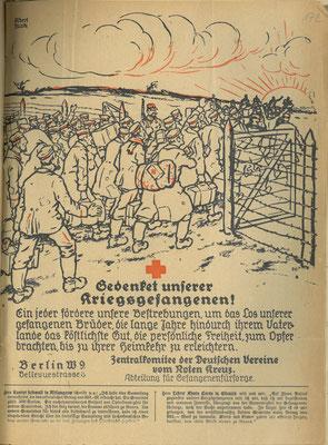 Flugblatt  1919: Deutsches Rotes Kreuz: Gedenket unserer Kriegsgefangenen StA Göttingen