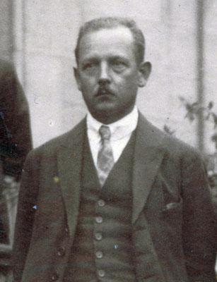 Franz Arnholdt (1885-1951), Mitglied des Rates ab April 1919, Vorsitzender des Deutschen Metallarbeiter-Verbandes, USPD bis 1922, 1926. StA Göttingen