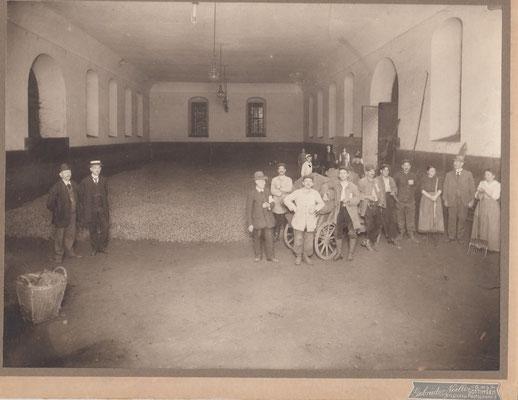 Kartoffellager im Universitäts-Reitinstitut, Reitstall, 1916-1919. Städtisches Museum Göttingen