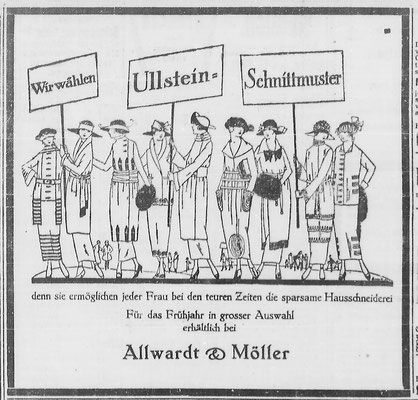 Göttinger Zeitung, 28.03.1919: Modeanzeige, StA Göttingen