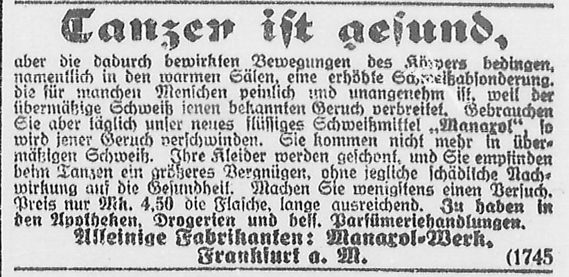 Göttinger Zeitung, 23.03.1919:  Anzeige: Tanzen ist gesund! StA Göttingen