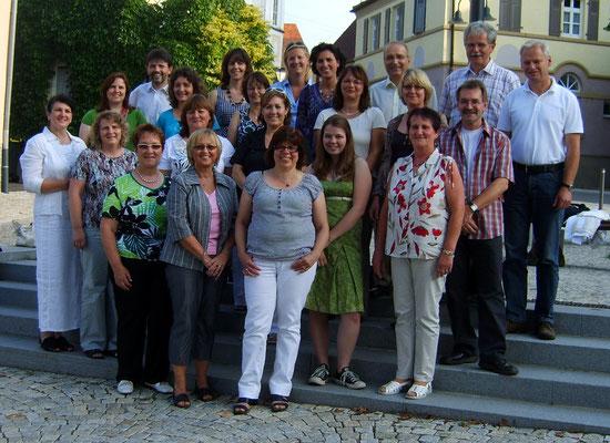 Gründungsmitglieder Chorgruppe-Aufwind 28.Juni 2009