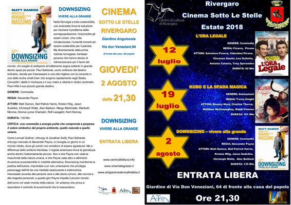 Rivergaro cinema sotto le stelle estate 2018