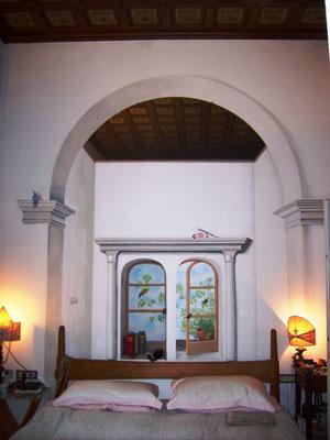 Bobbio (PC)- casa Chiapparoli - finto quadro a trompe l'oeil
