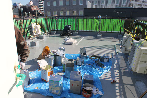 支部会館防水工事 2015年