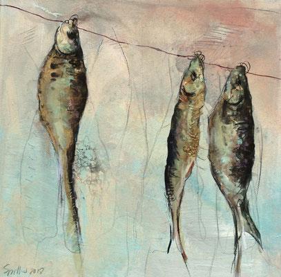 Trockenfisch I, 30/30 cm, 2018