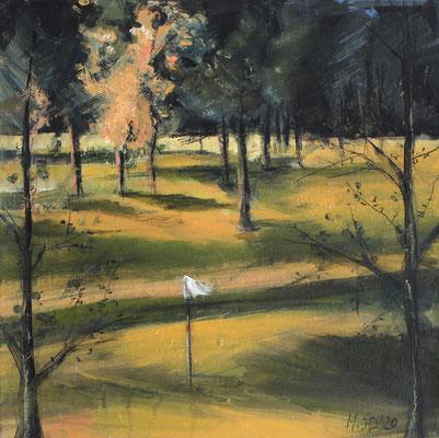 Landschaft X / Golf, 30/30 cm, 2020