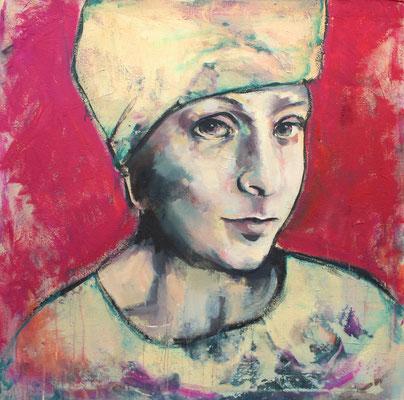 H. mit Turban, 100/100 cm, 2019