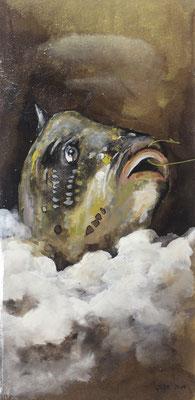 Pappfisch X, 14/29 cm, 2017