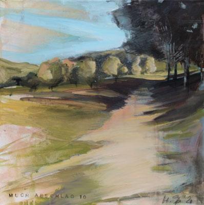 Landschaft XVIII / Golf, 40/40 cm, 2020