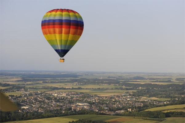 Le Champ du Pré - Chambre d'hôtes Sologne Val de Loire - A faire : un vol en montgolfière au-dessus des châteaux de la Loire