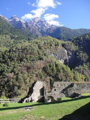 Castello Mesocco Eingang
