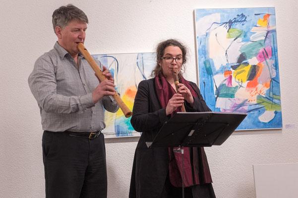 Sabina Weyermann und Peter Ehinger begeistern mit ihrer Flötenmusik.