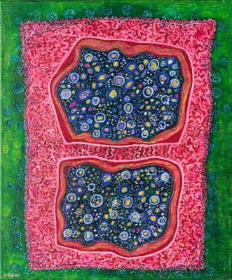 Ohne Titel, Acryl auf Leinwand, 50 cm x 60 cm