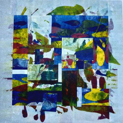 Collage von Drucken, 40 cm x 40 cm,  2020