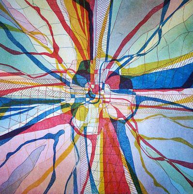Farbradierung, Mehrfachdruck 30 cm x 30 cm, 1995