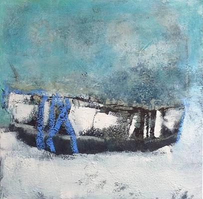 Eiszeit, Mischtechnik auf Leinwand, 50 cm x 50 cm