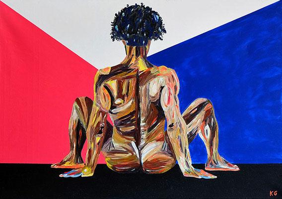 """Mischling"", Öl auf Leinwand, 70 cm x 100 cm"
