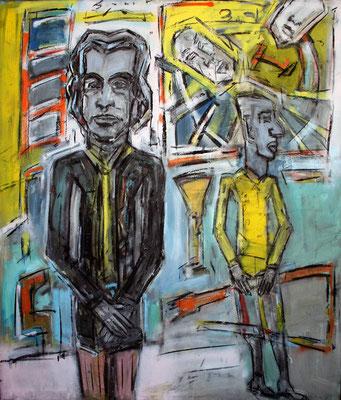 Nick Cave, 140 cm x 120cm,  Lack/Kreide/Pigmente auf Leinwand