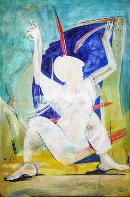 """Yogi"", 2017,Acryl auf Leinwand, 105 cm x 160 cm (#1632)"
