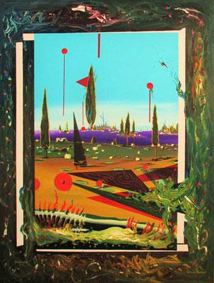 """""""Großer Garten …."""" Öl, Acryl auf Leinwand, 80 cm x 60 cm"""