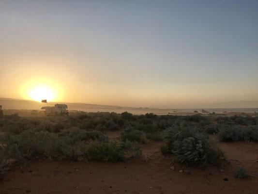 Sandsturm im Sand Hollow State Park bei St. George