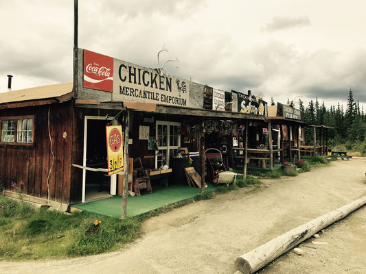 Downtown von Chicken, Alaska