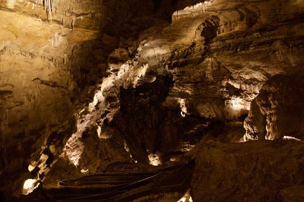 Es geht steil abwärts in den Carlsbad Caverns.