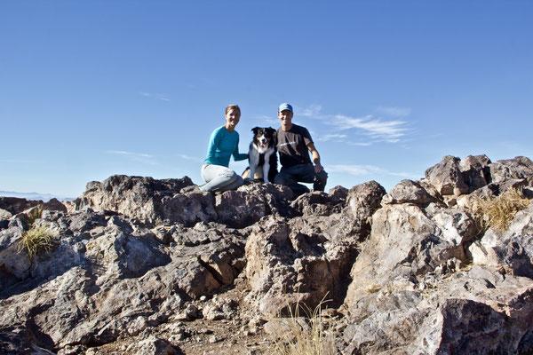 …mit dem obligaten Gipfelfoto.