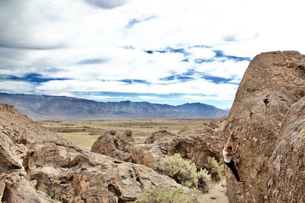Die Kletter- und Bouldergebiete um Bishop sorgen für die Sättigung des Bewegungsdrangs.