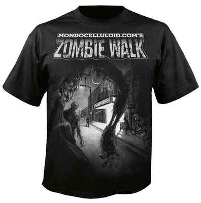 Long Beach Zombie Walk graphic tee (photocomp). Image by Kevin Bannister, logotype by Garry Booth at www.egofresh.com)