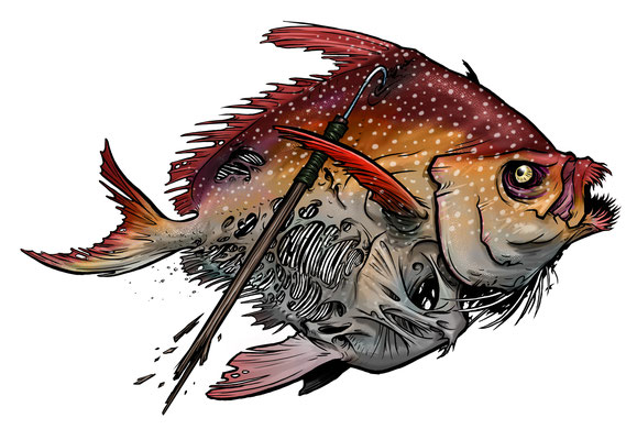 """Opah Infernalis"", digital tattoo commission."