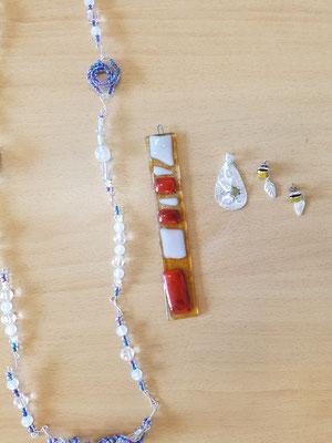 2017 Sommerakademie Riegelsberg Silberschmuck/Glasfusing Teilnehmerarbeiten