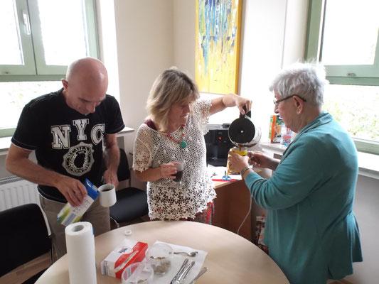 kleine Kaffeepause Sommerakademie Riegelsberg
