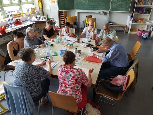 Schreibkurs 2017 Teilnehmer bei de Arbeit