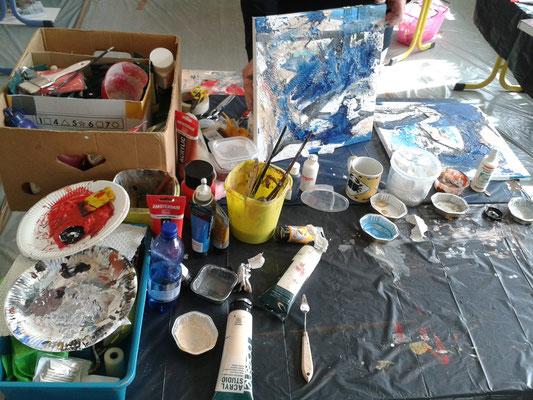 Sommerakademie Riegelsberg Malworkshop Teilnehmerarbeit