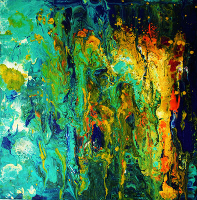 El agua. Acryl auf Leinwand 40cm x 40 cm. Preis: