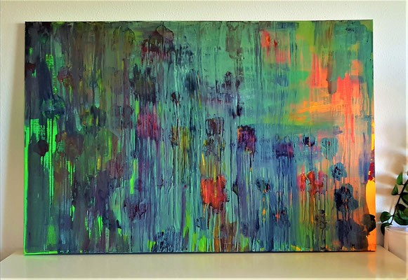 Las Flores Acryl auf Leinwand 100 x 150cm