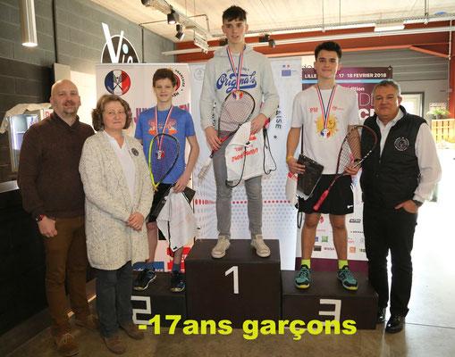 Marek Panacek (CZE, 2ème) -  Conor Moran (IRL, 1er) - Perry Malik (ENG, 3ème)