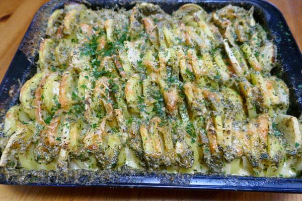 Kartoffel-Apfel-Sellerie-Auflauf