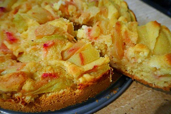 basischer Pfirsichkuchen