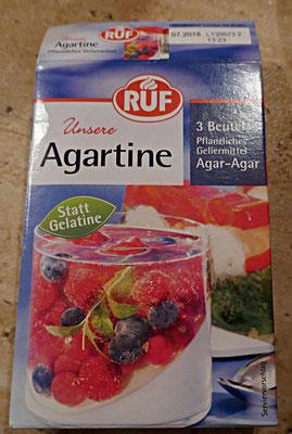 Agartine - pflanzliche Gelieralternative zu Gelatine