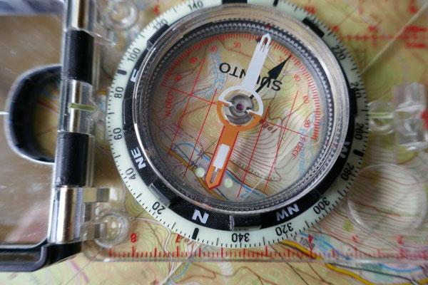 Marschkompasszahl ermitteln