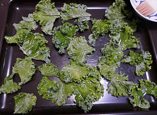 selbstgemachte Grünkohlchips