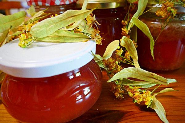 Lindenblütengelee mit Birkenzucker