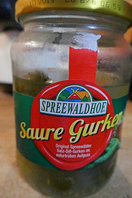 Salzgurken oder saure Gurken vom Spreewaldhof