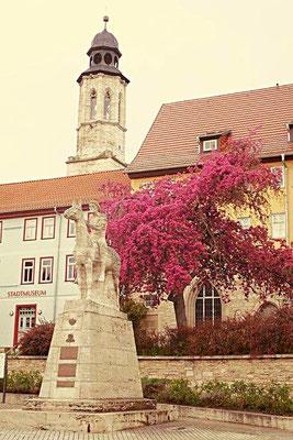 Vor dem Stadtmuseum von Bad Langensalza