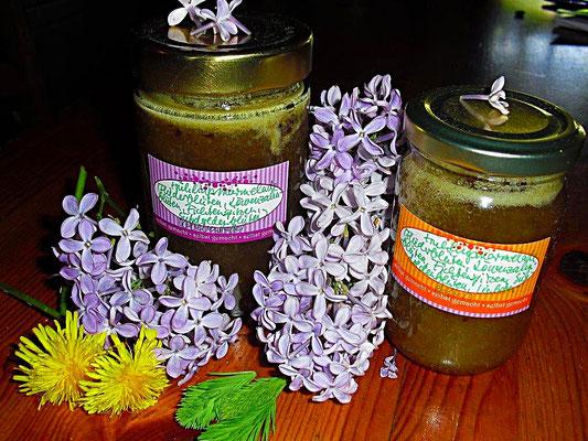 Blütenmarmelade mit Birkenzucker und Kubebenpfeffer